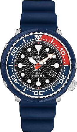 Seiko PADI Special Edition Prospex Reloj de buceo solar con correa de silicona negra (200 m)