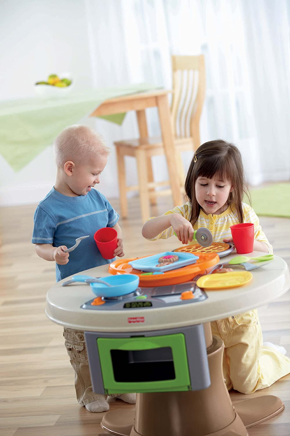 Amazon Com Fisher Price Servin Surprises Kitchen Table Toys Games