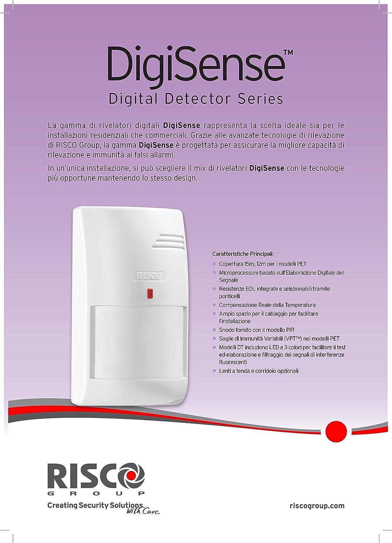 Risco-RK412DTPT00A Digisense Detector DT PIR MW: Amazon.es: Bricolaje y herramientas