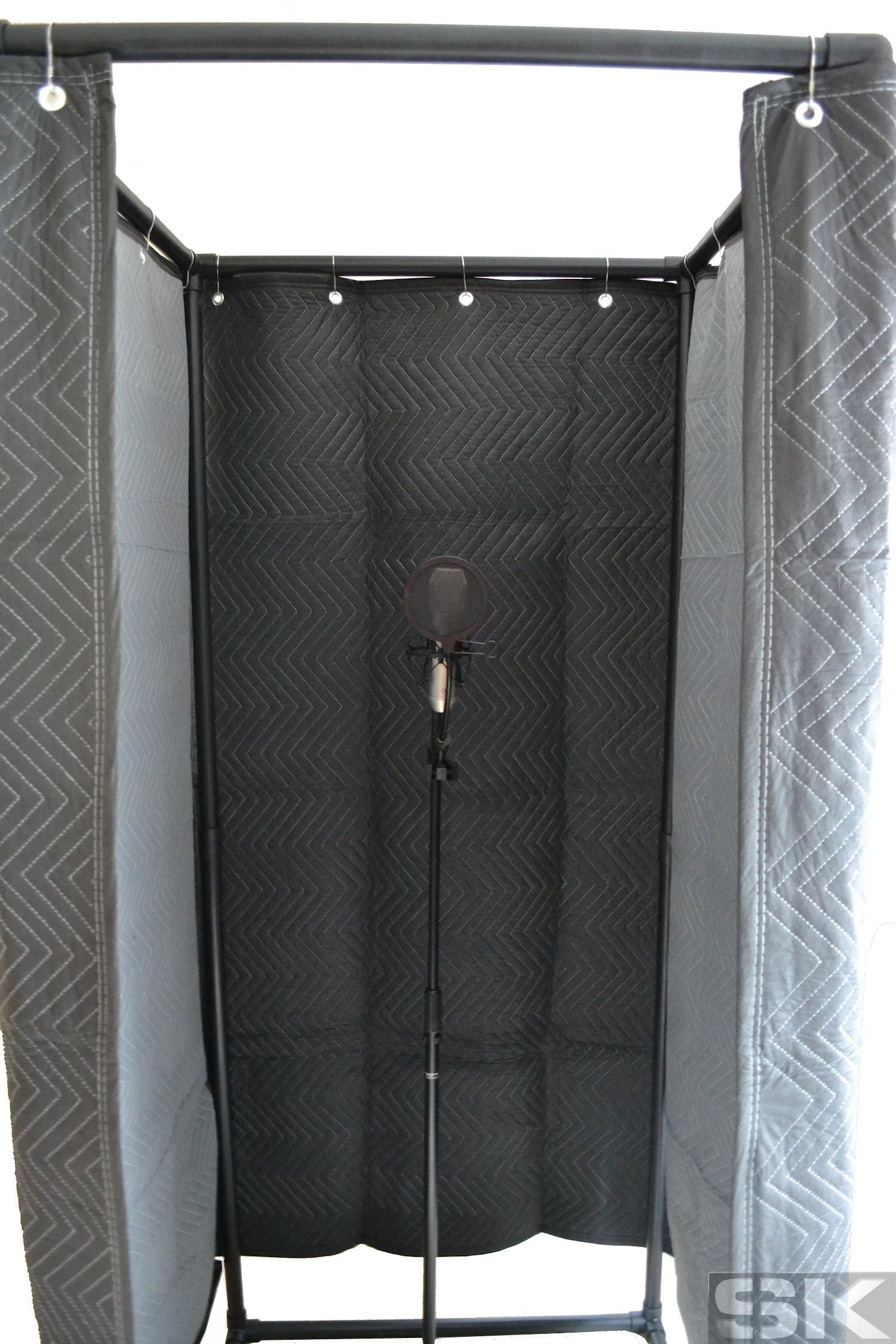 SK Vocal Booth - Deluxe Walk-In Sound Recording Studio Vocal Isolation Booth for creating Studio Acoustics and Reducing Sound Reflections, Noise & Echo