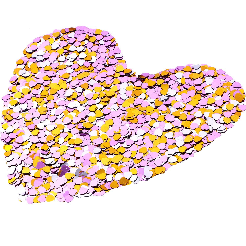 confeti forma corazón