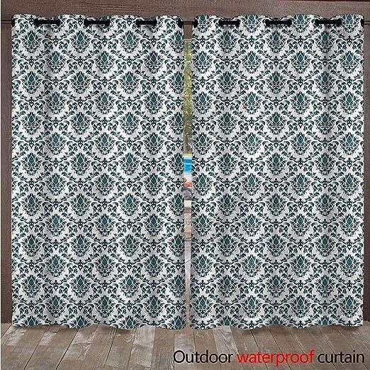 AndyTours - Cortinas para Exteriores - Cortina de Porche para decoración de jardín, Resistente al Agua, Cortinas para pergola/Patio/toldo, 2 Unidades: Amazon.es: Jardín