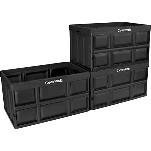 CleverMade CleverCrates 62 Liter Collapsible Storage Bin/Container: Solid  Wall Utility Basket/Tote