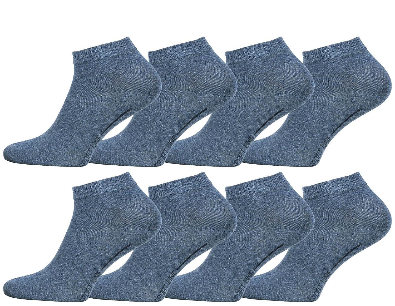 8 Paia di Calze Sportive 'Sport Line' Uomo, Vincent Creation® Vincent Creation® Sport Line Sneaker