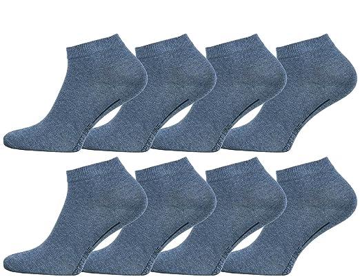 SPORT LINE Negro 8 pares de calcetines deport/ó tobilleros para mujer calcetines