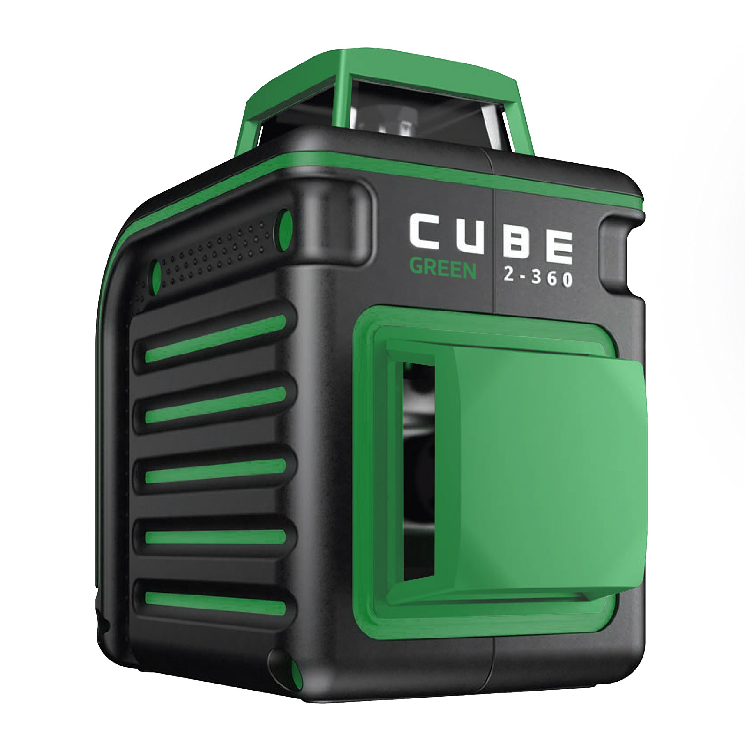 AdirPro Cube 2-360 Self Levelling Green Beam Cross Line Laser Level - Home Edition (Includes: Batteries, Soft Case, Mount, Glasses, 3 AA Batteries, Instructions Manual) by AdirPro
