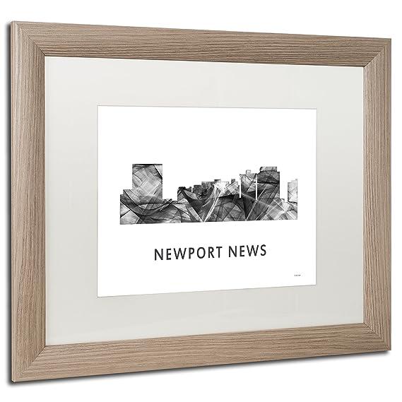 Amazoncom Newport News Va Skyline Wb Bw By Marlene Watson White