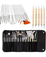 Nail Art Brush Set Dotting Pen Gel Polish Painting Drawing Detailing Arcylic Nail Line Brush Design Pen Nail Liner Tool
