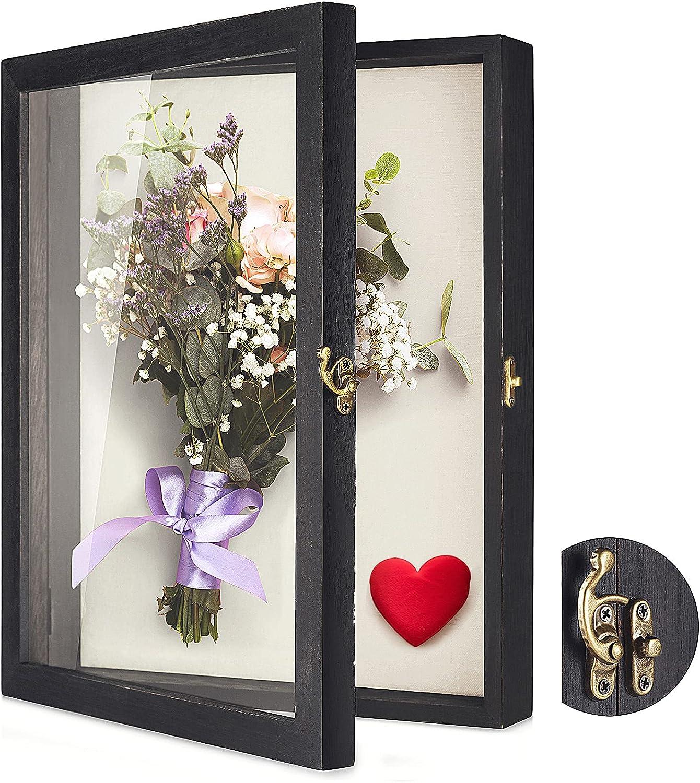 """TJ.MOREE Flowers Shadow Box Display Case 14"""" x Shadowb mart Large 11"""" Free Shipping New"""
