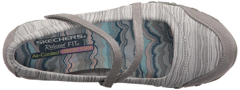 Skechers Women's Bikers-Ripples Mary Jane Flat and Women's Bikers-Clocked Mary Jane Flat No Memory Foam B01MA58EI3 7 B(M) US|Grey Knit