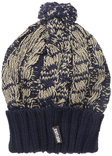 94950f7d031ea Muk Luks Women's Cable Hat, Galaxy/Almond, One Size at Amazon Women's  Clothing store: