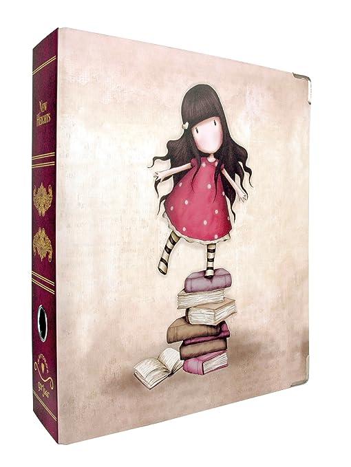Santoro Gorjuss New Heights - Archivador de palanca (A4), diseño de niña subida