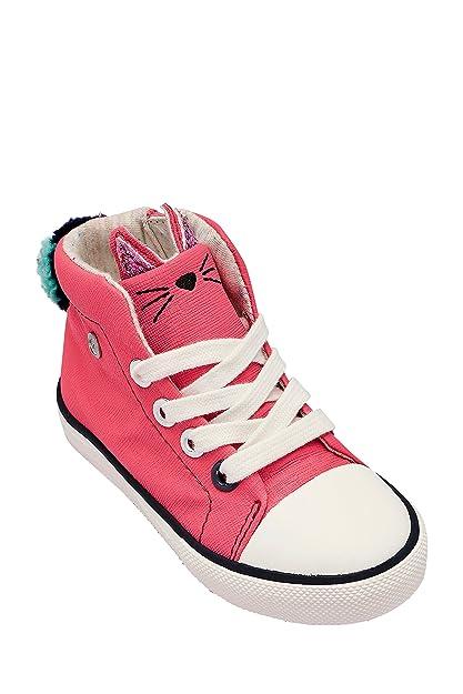 Next Niñas Zapatillas De Caña Alta con Gatos (Niña Pequeña) Rosa EU 30.5: Amazon.es: Zapatos y complementos
