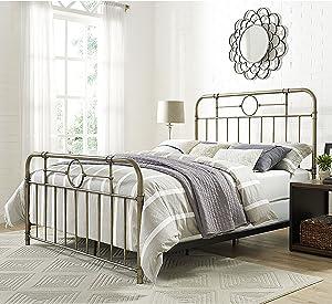 WE Furniture AZQMPBR Queen Bed, Bronze