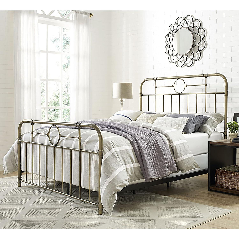 Amazon com we furniture queen metal pipe bed bronze kitchen dining