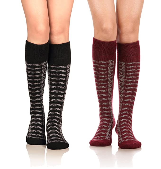 DoSmart Women's Winter Warm Knee High Socks Boot Socks 2-Pairs Multi Color(AA-01) best boot socks