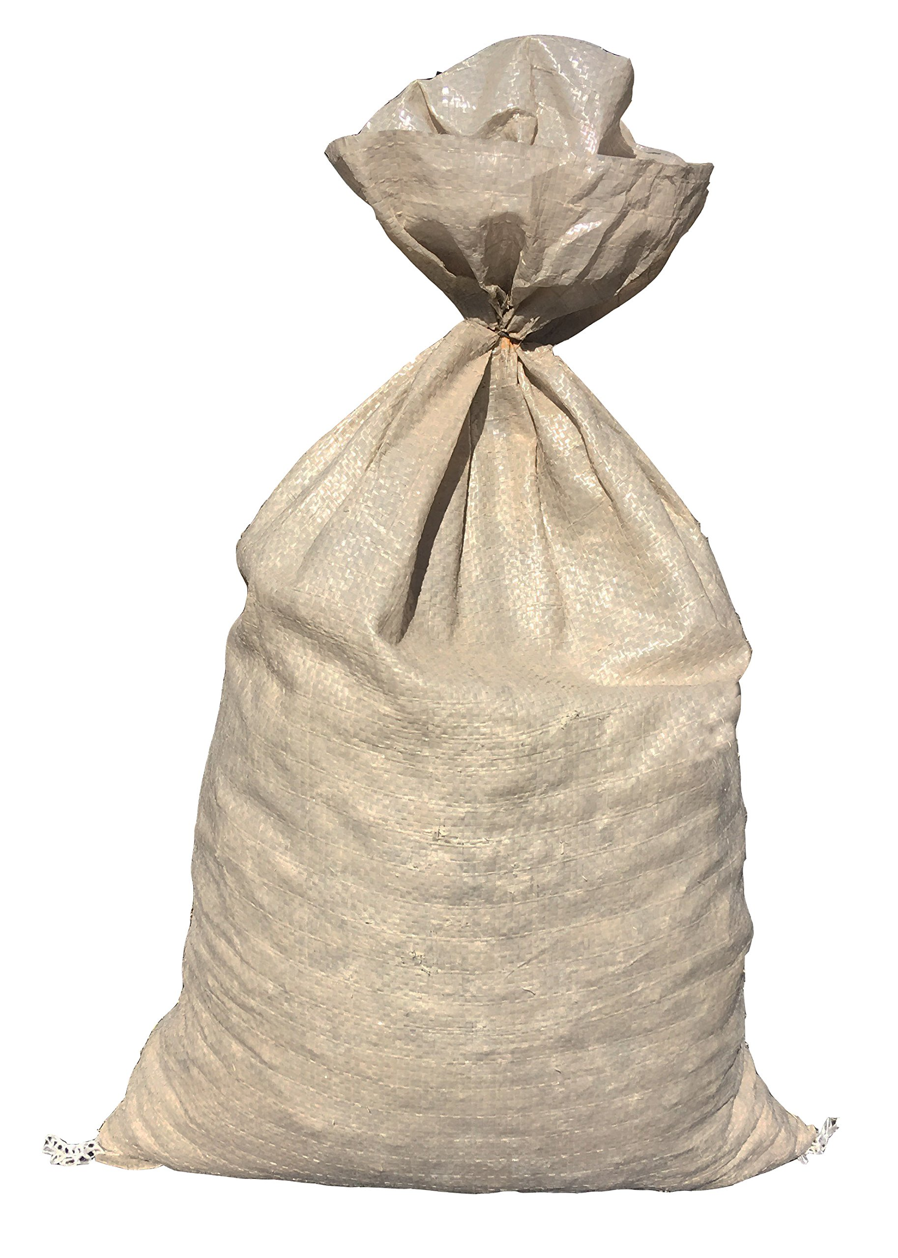 Sandbaggy - Empty Poly Sandbags W/UV Protection - Size: 14'' x 26'' - Color: Beige - Military Grade (50 Sandbags)