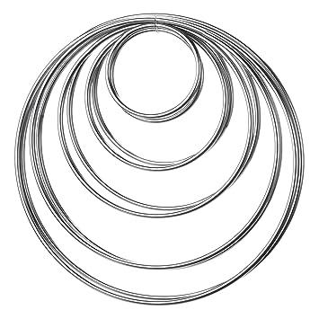 10 Stück Metall Ringe Metall Hoops für Traumfänger, 5 Größen ...