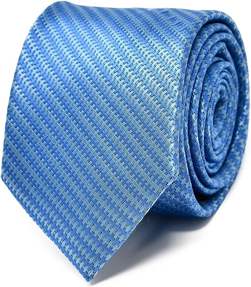 Oxford Collection Corbata de hombre Azul a Rayas - 100% Seda ...