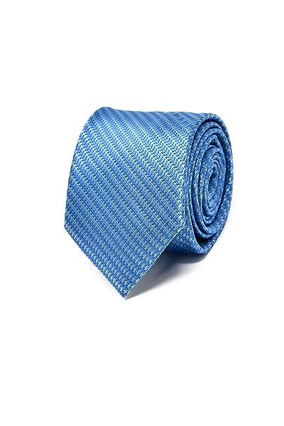 8c4c113001d3 Oxford Collection Corbata de hombre Azul a Rayas - 100% Seda ...