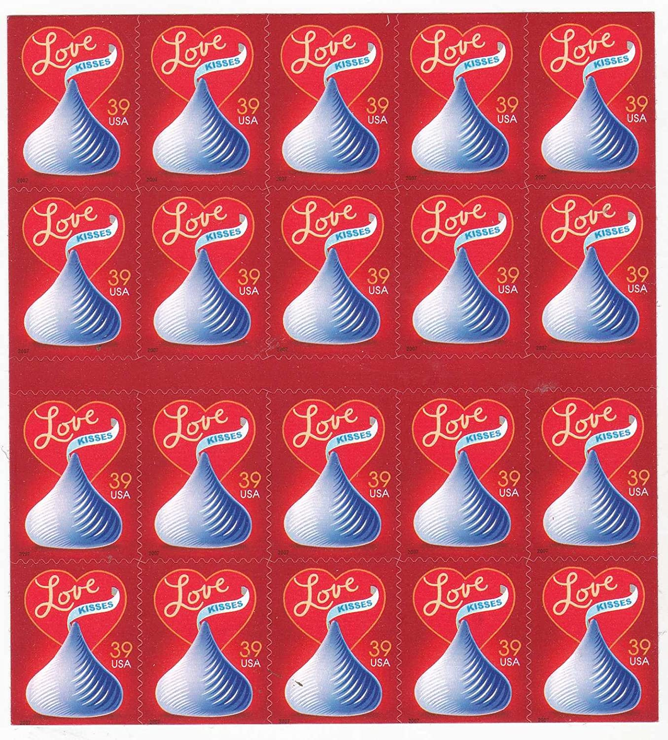 With Love and Kisses Collectible Stamp Sheet Collectible Stamp Sheet Scott 4122a by USPS sn_350413790396