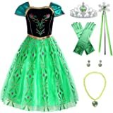 ReliBeauty Girls Princess Costume Dress up, Apple Green