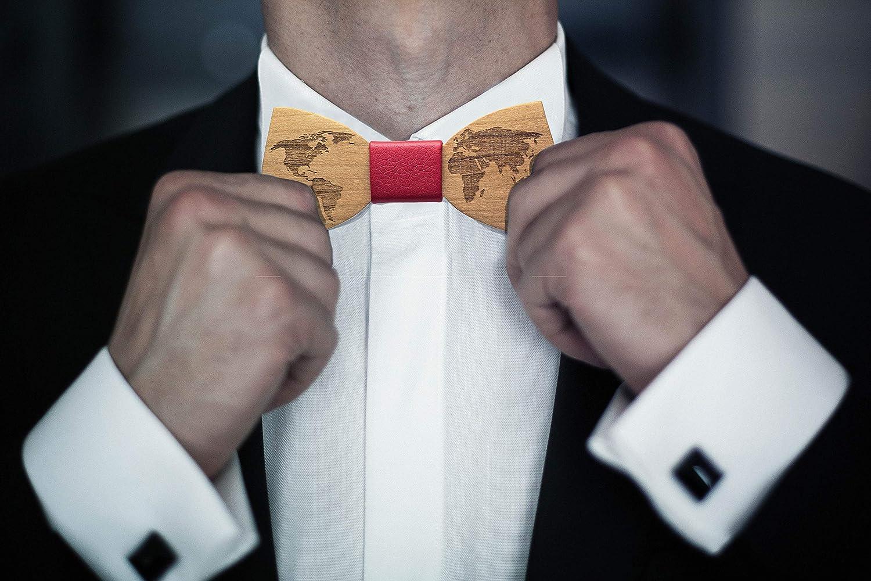 unico realizzato a mano inwood Papillon world Legno Uomo accessorio moda cerimonia matrimonio legno pregiato