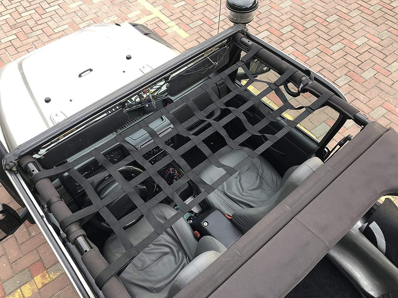 156x48cm TJ JK YJ Miners2000 Hamacs de Voiture Net Net Cargo Net Bed Net Reste hamac de Toit de Voiture en Tissu Oxford pour YJ JL