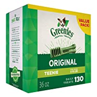 Deals on GREENIES Original TEENIE Dog Dental Chews Dog Treats 36 oz.