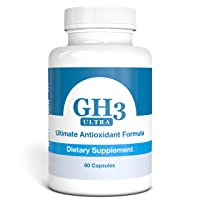 G-H3 Ultra, Ultimate Antioxidant Formula - New, Improved Anti-Aging Complex (Ginkgo Biloba, R-Alpha Lipoic Acid, Coenzyme Q10, Acetyl L-Carnitine, Vitamin B6) - 60 Caps
