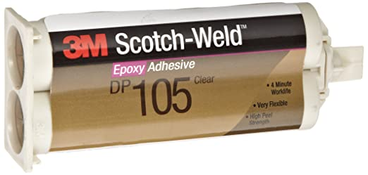 3M Scotch-Weld Epoxy Adhesive DP105 Clear, 1 7 oz (Pack of 1)