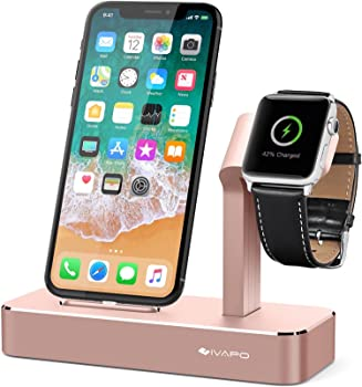 iVAPO Apple Watch Stand Solid Aluminum Charging Holder