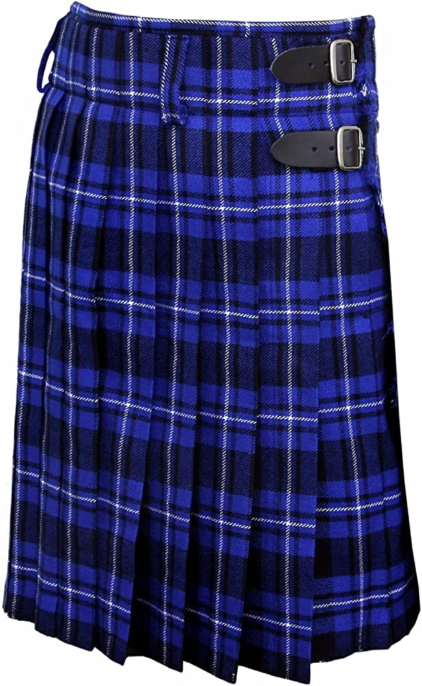SHYNE KILTS U.K - Vestido - para mujer azul 34 W/24 L: Amazon.es ...