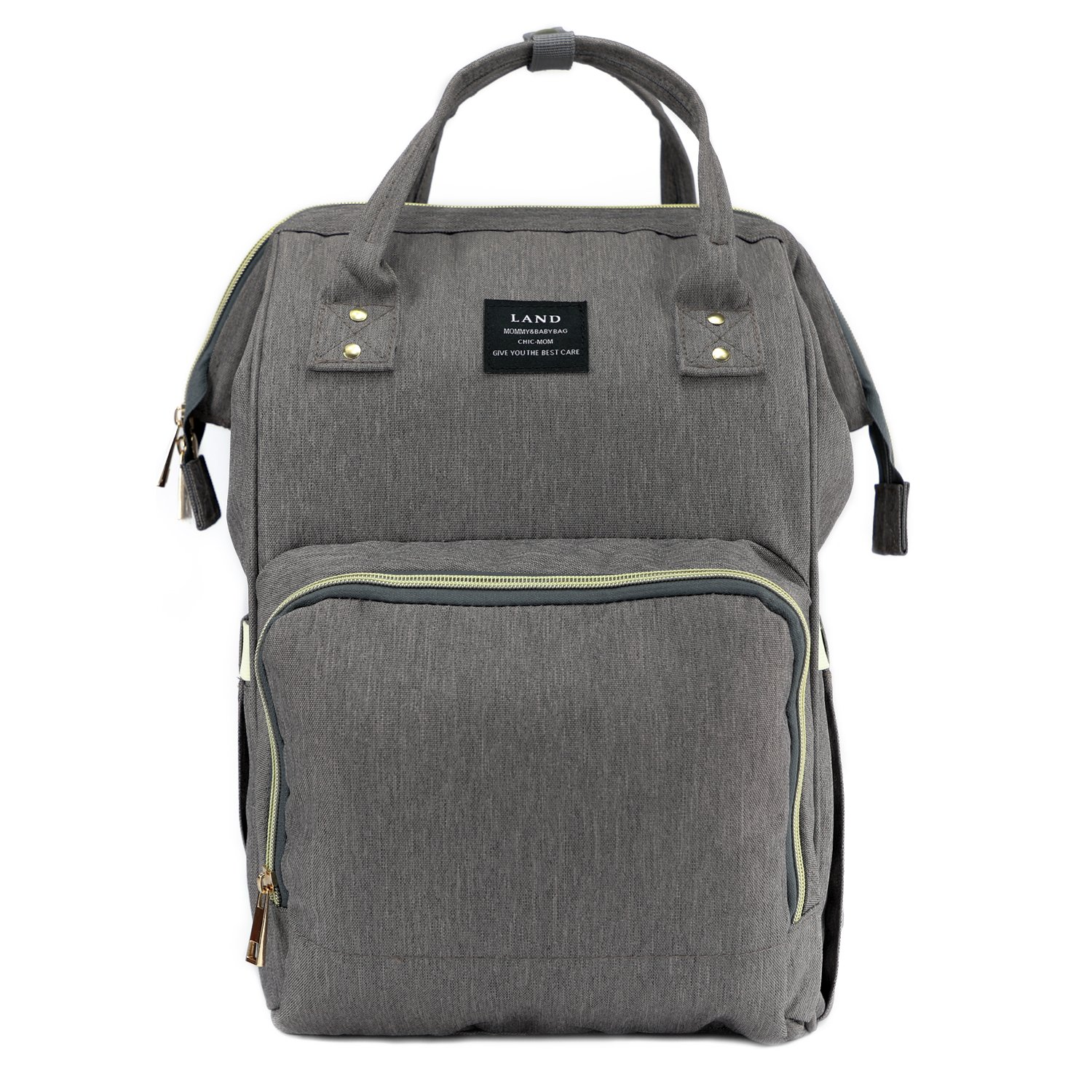 845b8e03e Galleon - Baby Diaper Bag Large Capacity Mommy Backpack Baby Nappy Tote Bags  Multi-Function Travelling Backpack For Mom Travellers Nurses Students (Grey)