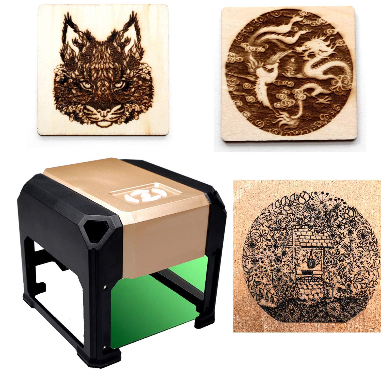 Laser Engraver Laser Engraving Machine Laser Engraver Printer Mini 3000mW Working Area 7.6X7.6CM for DIY Logo Marking