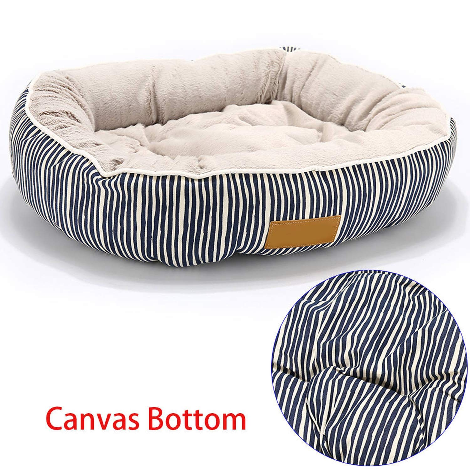 bluee S 45x35x15cmPets Products for Puppies Pet Bed for Animals Dog Beds for Large Dogs Cat House Dog Bed Mat Cat Sofa Supplies,bluee Stripe,L 65X55X18Cm