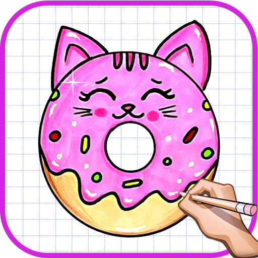 How To Draw Cute Donuts Squishy Easy Drawing Amazon Com Br Amazon Appstore