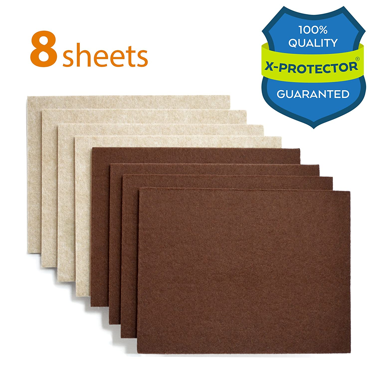 "X PROTECTOR Premium 8 THICK 1 5"" HEAVY DUTY Felt Sheets 5 4 5"" x 7"