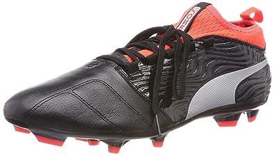 Puma One 18.3 FG, Chaussures de Football Homme, Noir Black Silver-Red Blast, 42 EU