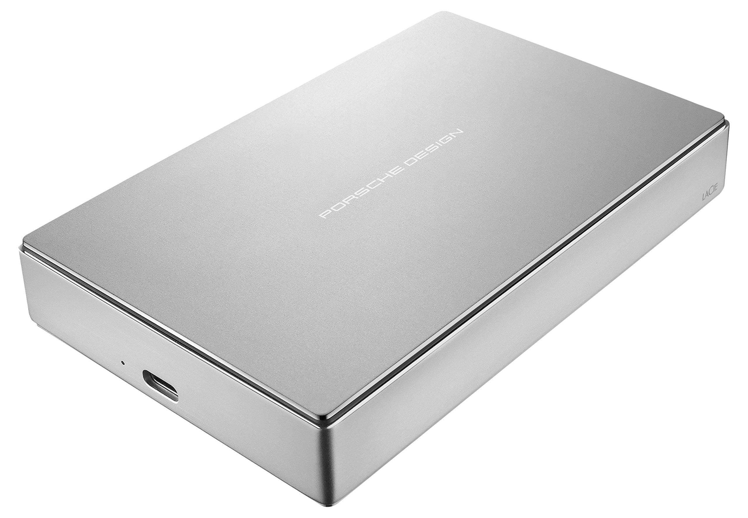 LaCie Porsche Design 5TB USB-C Mobile Hard Drive STFD5000400 - Silver by LaCie