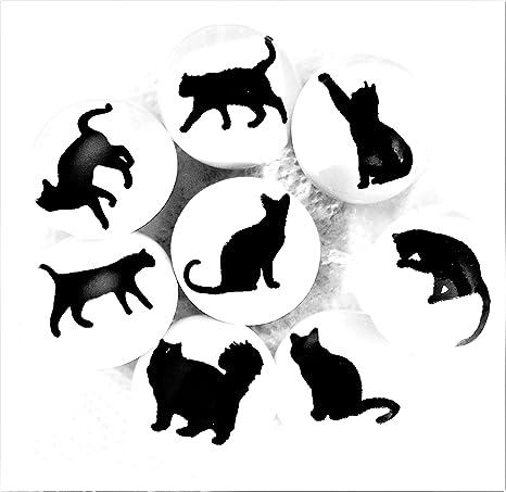 Set de 8 pomos de cerámica con diseño de gato por francés muebles accesorios – tiradores