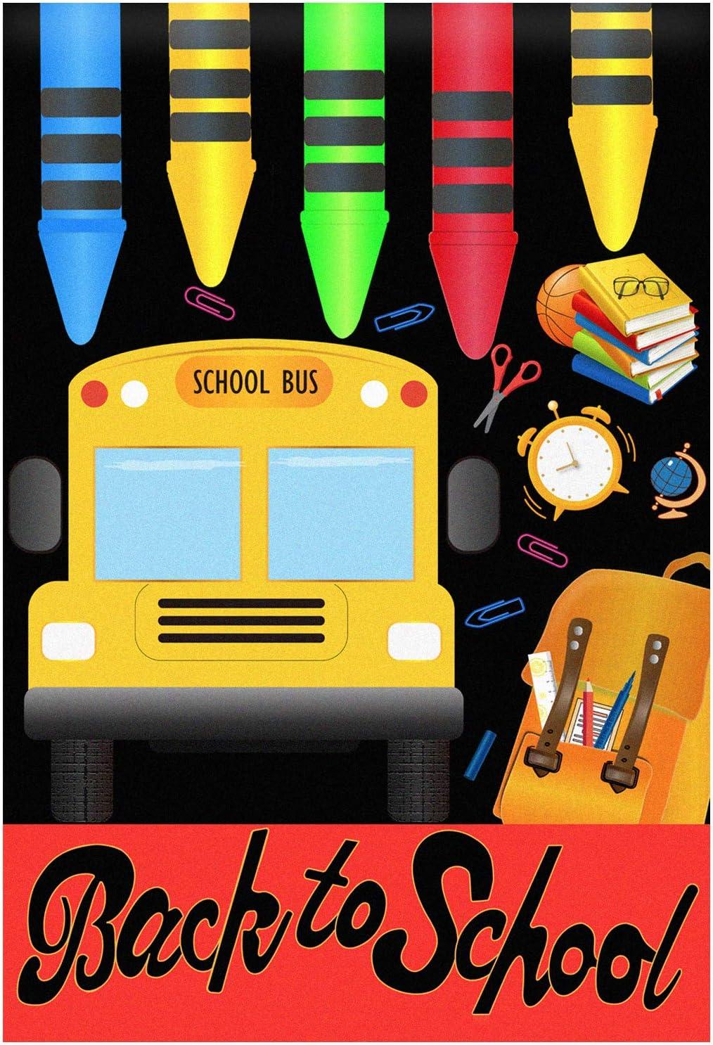 """Welcome Back to School Flag Crayons Garden Indoor Outdoor Decorative Lawn -28"""" x 40"""""""