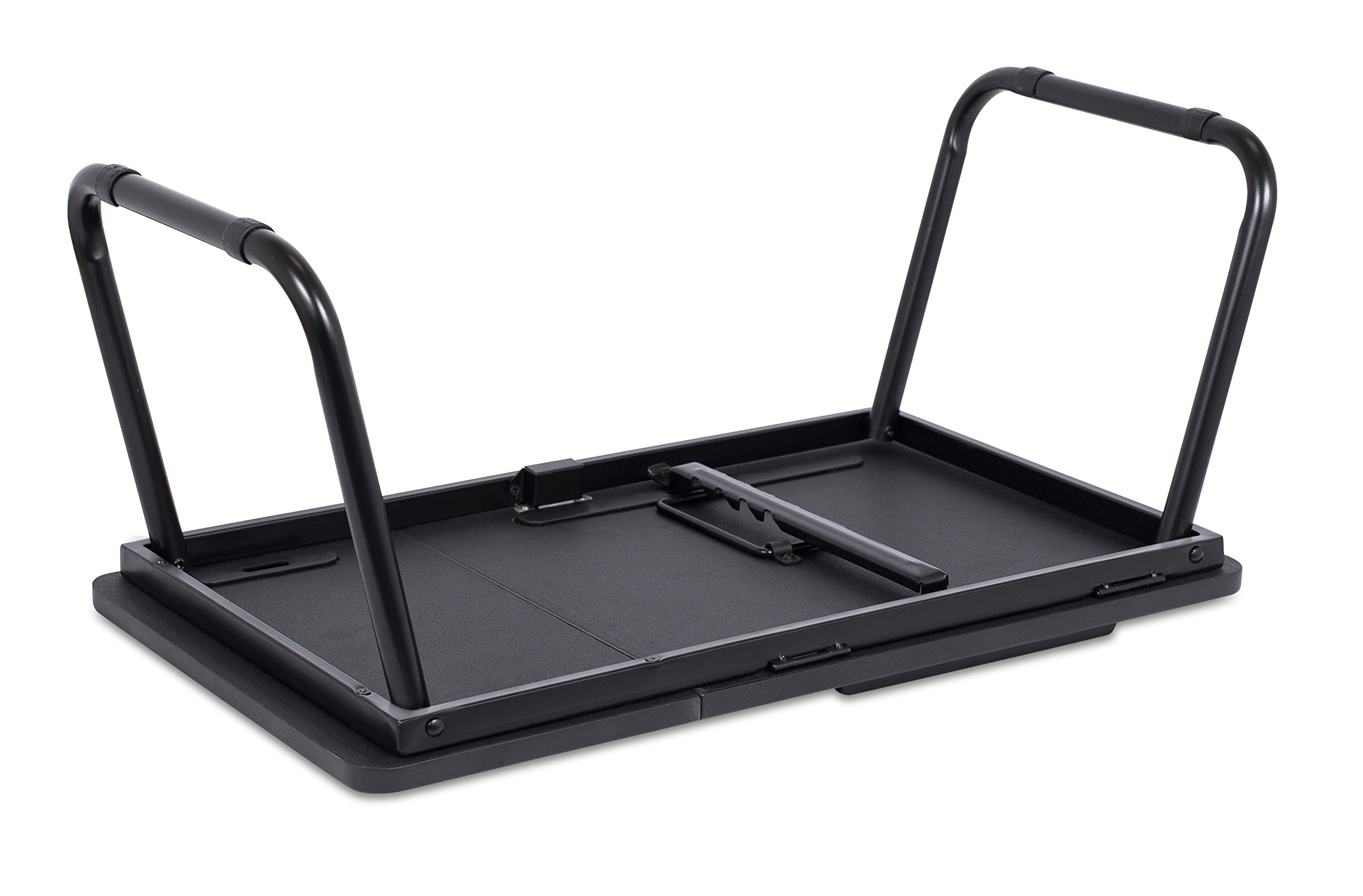 Sofia + Sam Lap Tray with Tablet & Phone Slots | Metal Folding Legs | Lap Desk with Tilting Top | Laptop Stand | Breakfast Serving Bed Tray | Black by Sofia + Sam (Image #8)