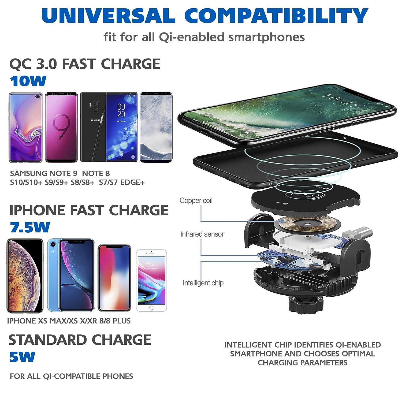Kabellose Ladegeräte Handy-zubehör Sonnig Qi Schnelle Drahtlose Ladegerät Für Iphone 8 X Xr Xs Max Qc3.0 10 W Schnelle Drahtlose Lade Für Samsung S10 S9 Hinweis 8 9 Usb Ladegerät Pad Neueste Mode