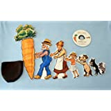 Giant Carrot Flannel Board Felt Set Story Time with Music Cd Plus a Free Bonus Cd