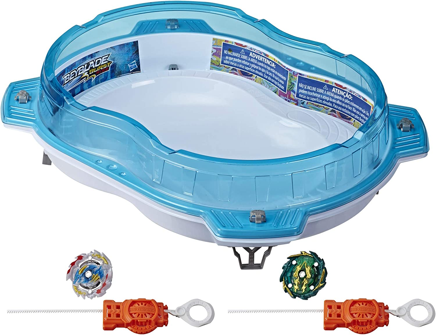 Amazon Com Beyblade Burst Rise Hypersphere Vertical Drop Battle Set Complete Set With Beystadium 2 Battling Top Toys And 2 Launchers Ages 8 And Up Toys Games