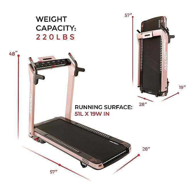 Sunny Health & Fitness Asuna SpaceFlex cinta de correr eléctrica ...