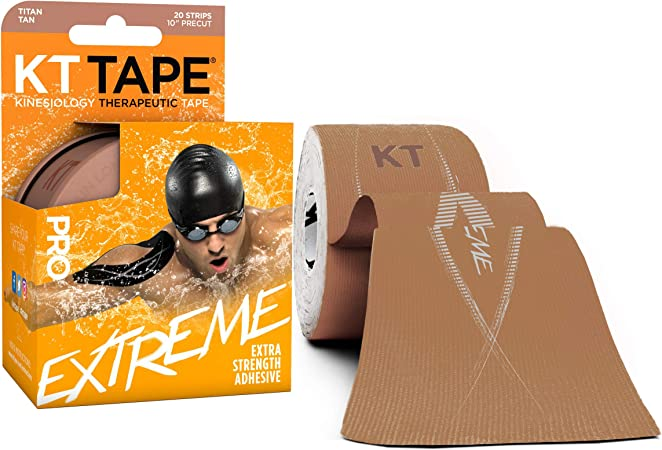 "10/"" KT Kinesiology Therapeutic Pro Extreme Black Sports Tape 20 strips"