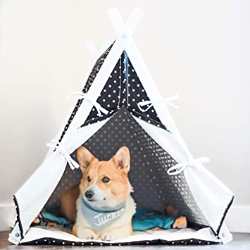 Amazon.com: han-mm Gran Casa de Perro Pet Teepee se pliegan ...