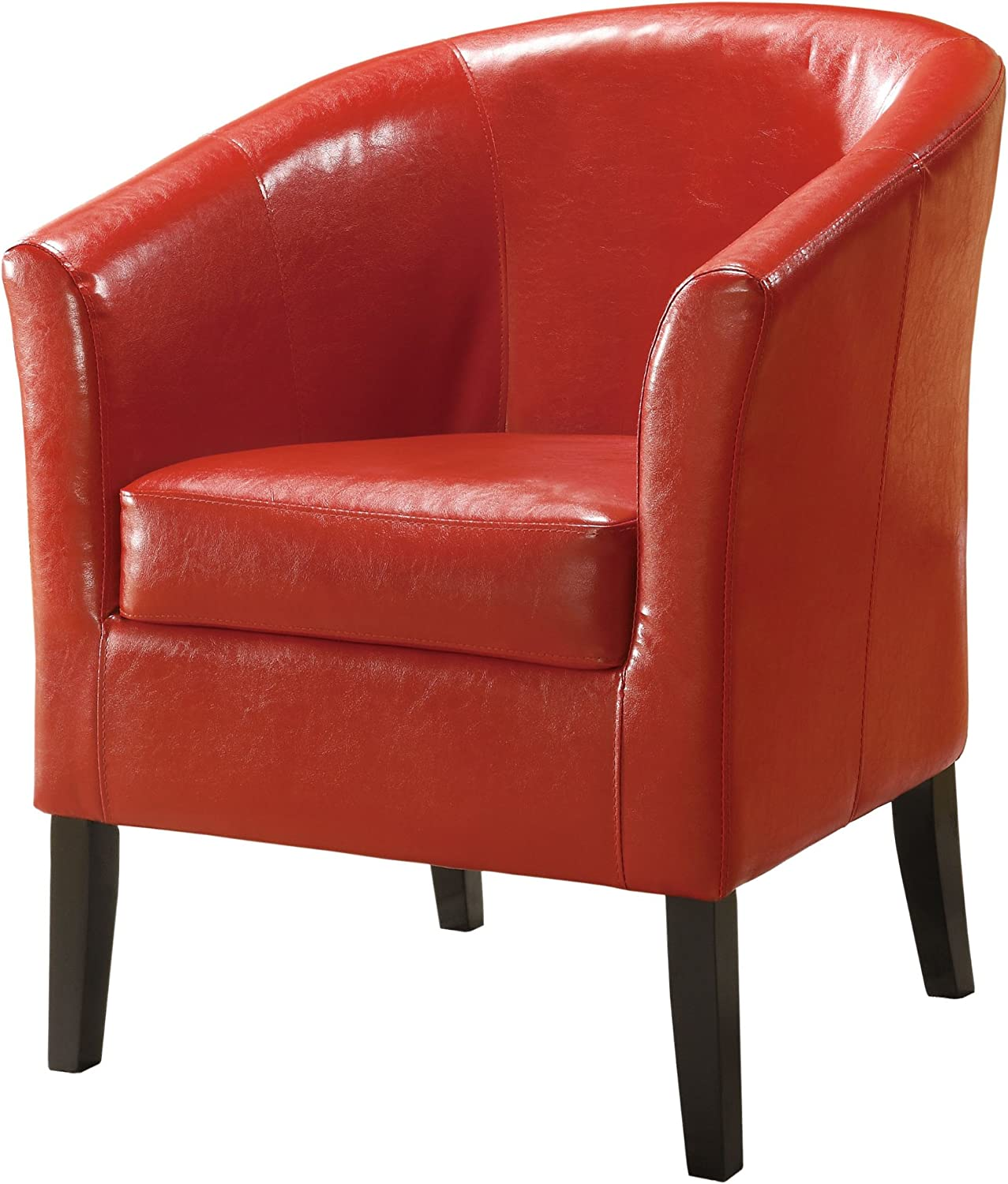 Linon Home Decor Simon Club Chair, Red